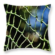 Netting - Abstract Throw Pillow by Kaye Menner