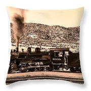Nevada Northern Railway Throw Pillow by Robert Bales