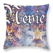 Nevie - Wise Throw Pillow by Christopher Gaston