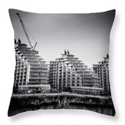 New Apartments In Battersea Throw Pillow by Lenny Carter