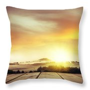 New beginning Throw Pillow by Les Cunliffe