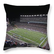 New England Patriots And Tom Brady Throw Pillow by Juergen Roth