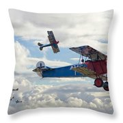 New Kid On The Block Throw Pillow by Pat Speirs