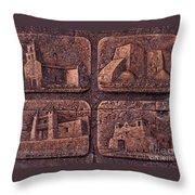 New Mexico Churches Throw Pillow by Ricardo Chavez-Mendez