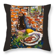 New Orleans Treats Throw Pillow by Dianne Parks