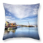 New Years In Portsmouth Nh Throw Pillow by Eric Gendron