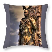 New York At Gettysburg - 42nd Ny Volunteer Infantry Tammany Regiment Close-1 Spring Hancock Avenue Throw Pillow by Michael Mazaika