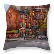 New York - City - Corner Of One Way And This Way Throw Pillow by Mike Savad