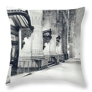 New York City - Snowy Winter Night Throw Pillow by Vivienne Gucwa