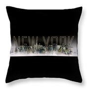 New York Digital-art No.2 Throw Pillow by Melanie Viola