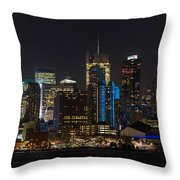 New York In Blue Throw Pillow by Mike Reid