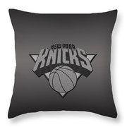 New York Knicks Throw Pillow by Paulo Goncalves