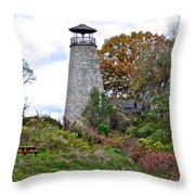 New York Lighthouse Throw Pillow by Frozen in Time Fine Art Photography