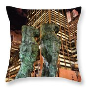 New York - Looking Toward The Avenue Throw Pillow by Paul Ward