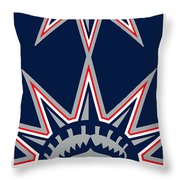 New York Rangers Throw Pillow by Tony Rubino