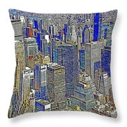 New York Skyline 20130430v2 Throw Pillow by Wingsdomain Art and Photography
