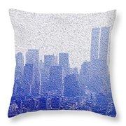 New York Skyline Throw Pillow by Jon Neidert