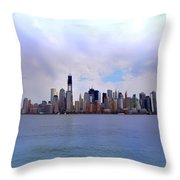 New York - Standing Tall Throw Pillow by Bill Cannon