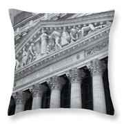 New York Stock Exchange II Throw Pillow by Clarence Holmes