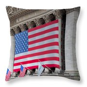 New York Stock Exchange IIi Throw Pillow by Clarence Holmes