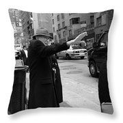 New York Street Photography 27 Throw Pillow by Frank Romeo