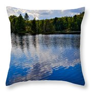 New York's Lake Abanakee Throw Pillow by David Patterson
