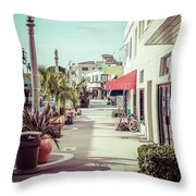Newport Beach Main Street Balboa Peninsula Picture Throw Pillow by Paul Velgos
