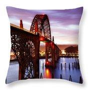 Newport Dawn Throw Pillow by Darren  White