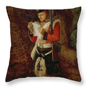 News From Home Throw Pillow by Sir John Everett Millais