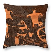 Newspaper Rock Close-up Throw Pillow by Gary Whitton