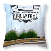 NFL Hall of Fame Throw Pillow by Frozen in Time Fine Art Photography
