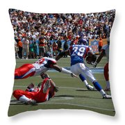 NFL Pro Bowl Throw Pillow by Mountain Dreams