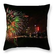 Niagara Falls Fireworks Throw Pillow by Charline Xia