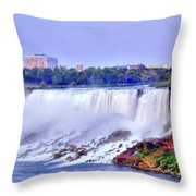 Niagara Falls Throw Pillow by Kathleen Struckle