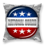 Nice National Guard Shield 2 Throw Pillow by Pamela Johnson