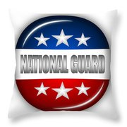 Nice National Guard Shield Throw Pillow by Pamela Johnson