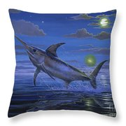 Night Bite Off0066 Throw Pillow by Carey Chen
