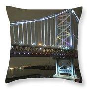 Night Crossing Throw Pillow by Rick  Monyahan
