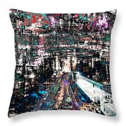 Night Crossover Throw Pillow by Mary Clanahan