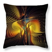 Night Exposure Throw Pillow by Karin Kuhlmann