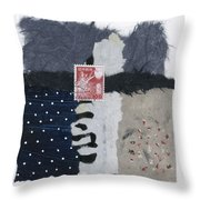 Night Fishing Throw Pillow by Carol Leigh