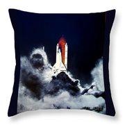 Night Launch Throw Pillow by Murphy Elliott