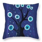 Night Sentry Throw Pillow by Anastasiya Malakhova