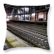 Night Train Throw Pillow by Olivier Le Queinec
