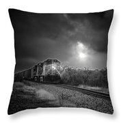 Night Train Throw Pillow by Robert Frederick