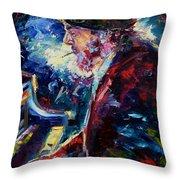 Night Tripper Throw Pillow by Debra Hurd