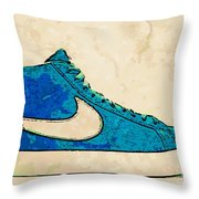 Nike Blazer Turq 2 Throw Pillow by Alfie Borg
