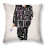 Ninth Doctor - Doctor Who Throw Pillow by Ayse Deniz