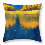 Nisqually Reflection Throw Pillow by Nancy Merkle