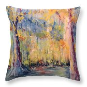 NLR Lake Study  Throw Pillow by Robin Miller-Bookhout